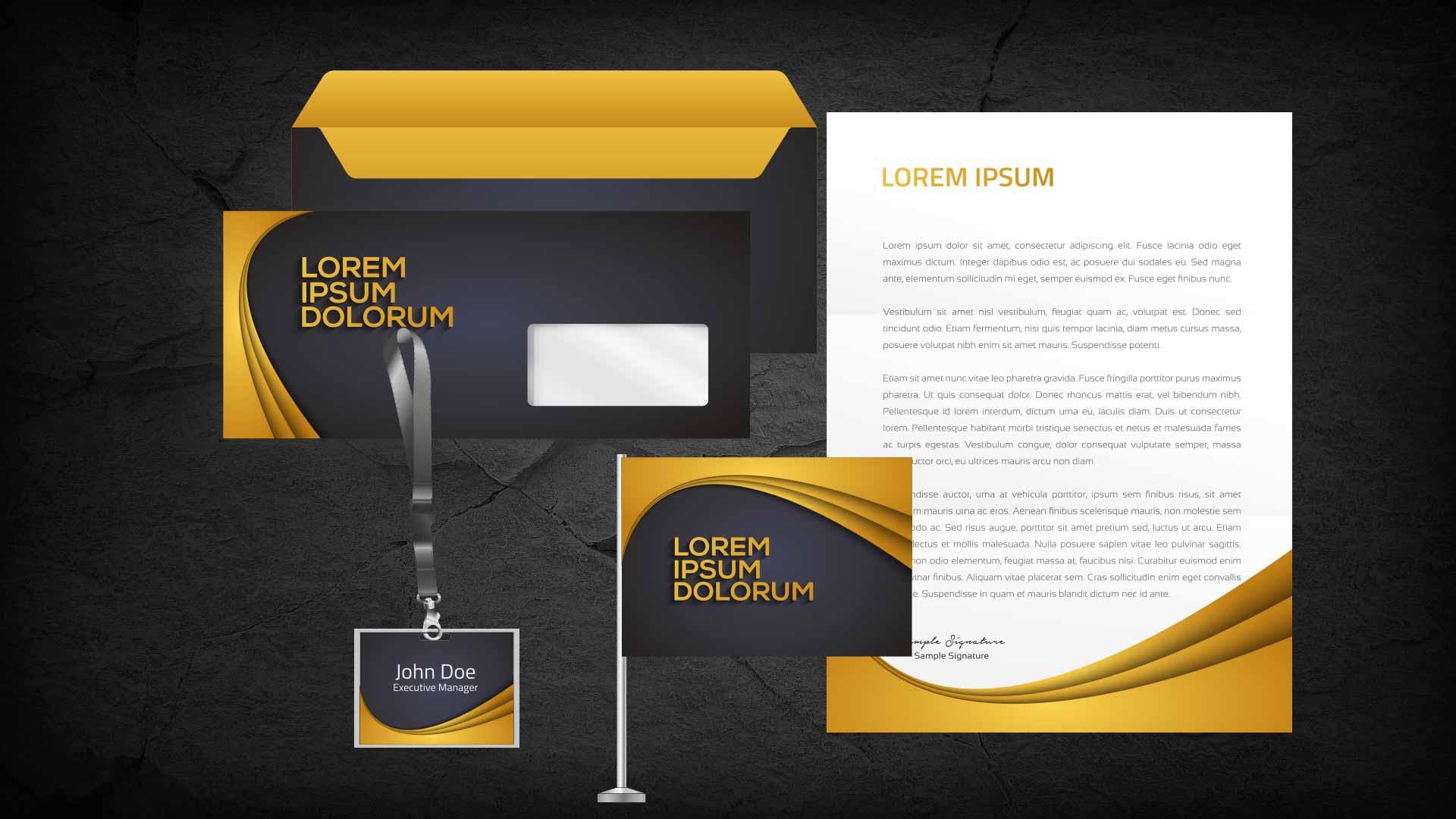 Visitenkarte Briefpapier Umschläge Ausstattung